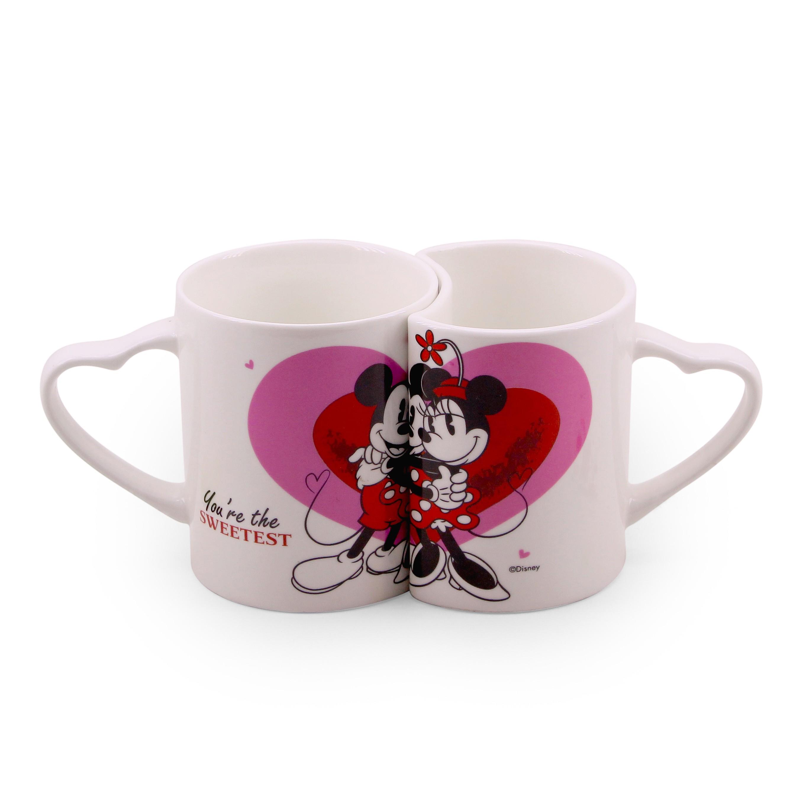 368392fc890525 DZPX01-MK2-D   Jogo De Canecas De Porcelana Amor Mickey & Minnie (Branca) -  Disney