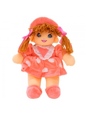 Boneca Rosa Círculos Com Chapéu 28cm