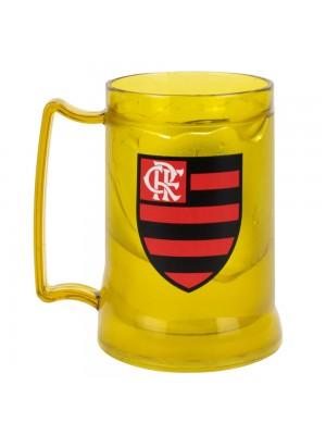 Caneca Gel Isolante Térmico Amarelo 400ml - Flamengo