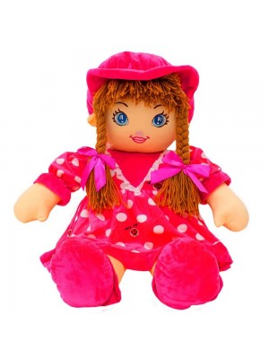 Boneca Pink Círculos Com Chapéu 77cm