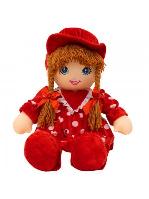Boneca Vermelho Círculos Com Chapéu 77cm