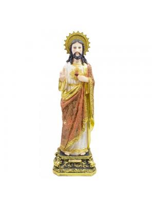SAGRADO CORAÇÃO DE JESUS 69CM - ENFEITE RESINA