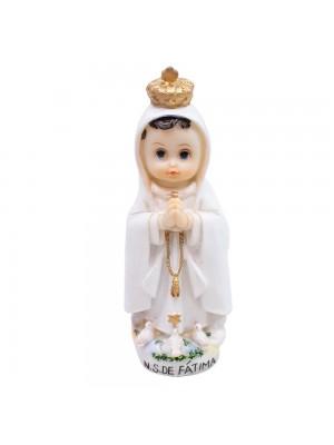 Nossa Senhora De Fátima 12.5cm Infantil - Enfeite Resina
