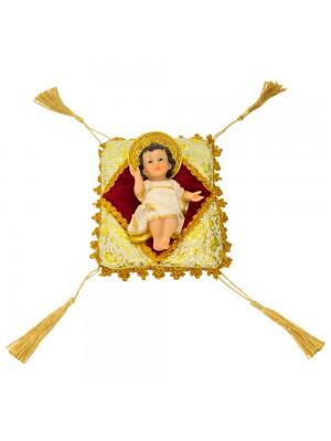 Menino Jesus Na Almofada 15cm - Enfeite Resina