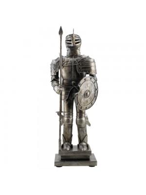 Armadura Medieval Escudo E Lança 48cm Estilo Retrô - Vintage