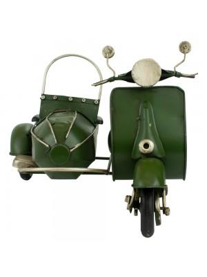 Motocicleta Com Sidecar 17.5x27x20cm Estilo Retrô - Vintage