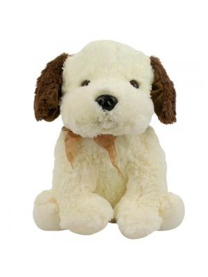 Cachorro Sentado Orelhas Marrom 33cm - Pelúcia