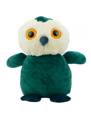 Coruja Verde Olhos Grandes 35cm - Pelúcia