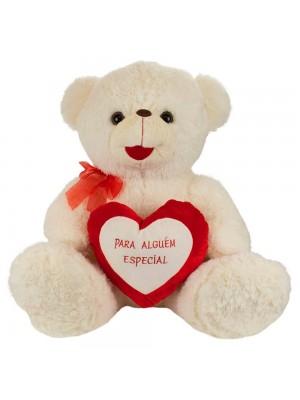 Urso Branco Para Alguém Especial 70cm - Pelúcia