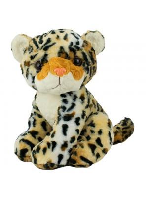 Leopardo Sentado 26cm - Pelúcia