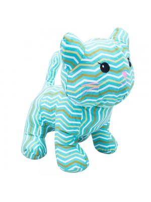 Gato Azul Listras 34cm - Bicho Tecido