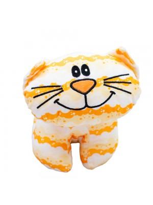 Gato Amarelo Corpo Comprido 27cm - Pelúcia