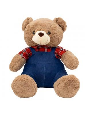 Urso Suspensório Camisa Quadriculada 48cm - Pelúcia