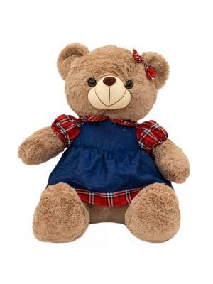 Urso Saia Camisa Quadriculada 48cm - Pelúcia