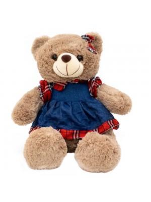 Urso Saia Camisa Quadriculada 31cm - Pelúcia
