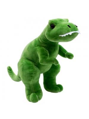 Dinossauro Tiranossauro Rex Verde 28cm - Pelúcia
