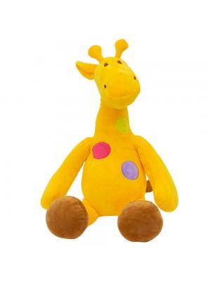 Girafa Amarela Pintas Coloridas 47cm - Pelúcia