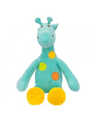 Girafa Verde Pintas Coloridas 47cm - Pelúcia