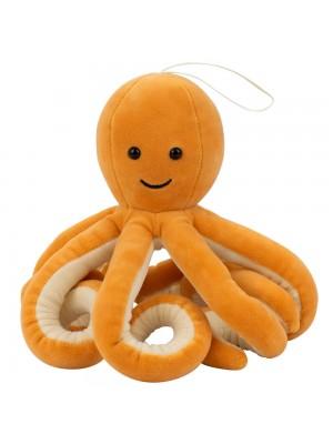 Polvo Marrom Claro 8 Tentáculos Longos 16cm - Pelúcia