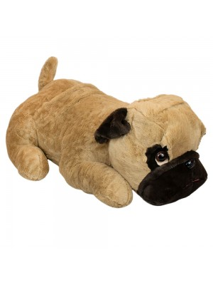Cachorro Pug Deitado 80cm - Pelúcia