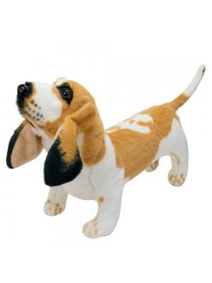 Cachorro Realista Basset Hound 35cm - Pelúcia