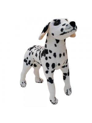 Cachorro Dálmata Realista Levantado 44cm - Pelúcia Enfeite