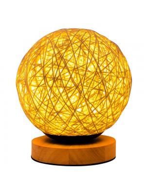 Luminária Bola Amarela 18x15x15cm