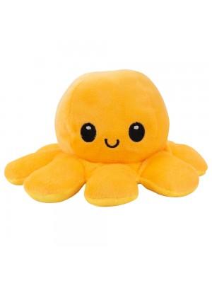 Polvo Laranja Amarelo Humor 18cm - Pelúcia