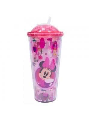 Copo Rosa Minnie Cubos Gelo Artificial 600ml - Disney