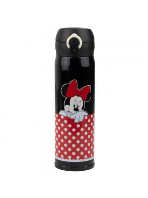 Garrafa Térmica Preta Minnie 400ml - Disney