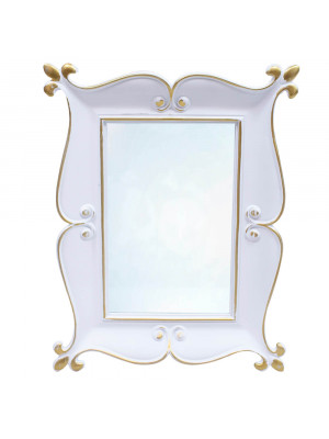 Espelho Moldurado Branco 22x17cm