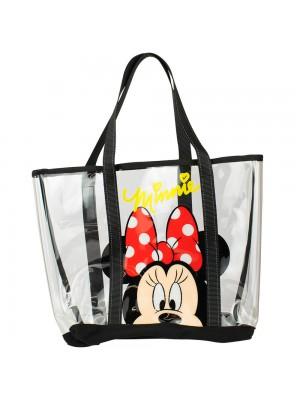 Bolsa Minnie Transparente 33x36cm Disney DXK9003MK1D