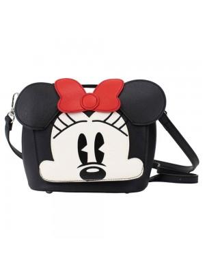 Bolsa Preta Rosto Minnie 18x18cm - Disney