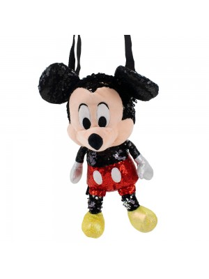 Bolsa Formato Pelúcia Mickey Lantejoulas 30cm - Disney