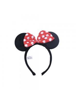 DYD101TR-MK5-D | Tiara Com Orelhas Minnie E Laçinho Vermelho Com Pontos Brancos - Disney