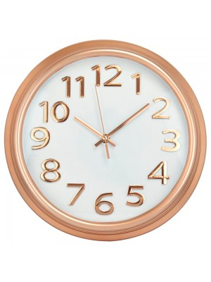 Relógio Parede Redondo Rosê 33x33cm