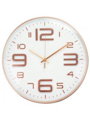 Relógio Parede Redondo Rosê 34x34cm
