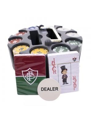 GST005-6-B | Jogo De Poker 200 Fichas E Baralhos - Fluminense
