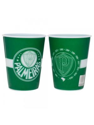 Jogo 2 Copos Plástico 3D 400ml - Palmeiras