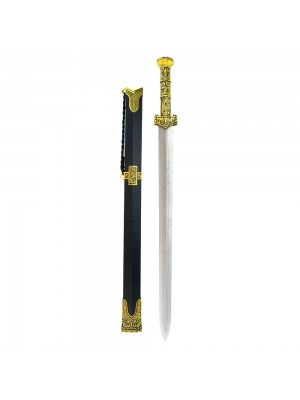 Espada Chinesa Preta Decorativa 65cm