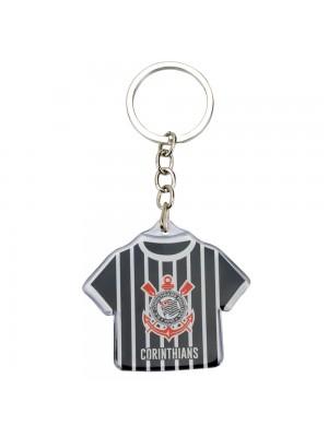 JY1006Z-1-B | Chaveiro Camisa Futebol 5cm - Corinthians