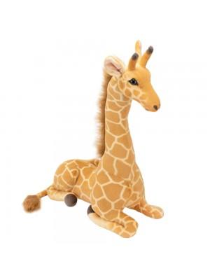 Girafa Realista Deitado 55cm - Pelúcia