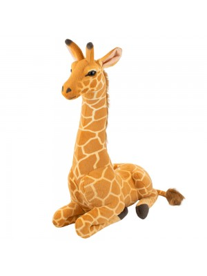 Girafa Realista Deitado 62cm - Pelúcia