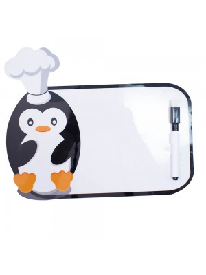 LJCBA0005V-M | Adesivo Decorativo Pinguim Quadro Escrever 21X14cm