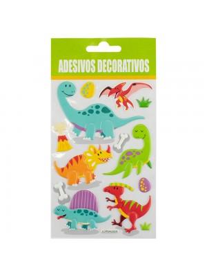 Adesivo Decorativo Dinossauros 19x10cm