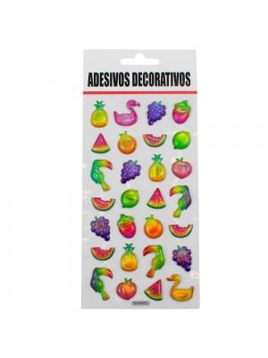 Adesivo Decorativo Frutas Aves 21.5x9.5cm
