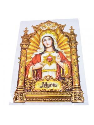 Adesivo Decorativo Sagrado Coração De Maria 39x26.5cm