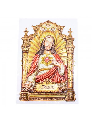 Adesivo Decorativo Sagrado Coração De Jesus 39x26.5cm