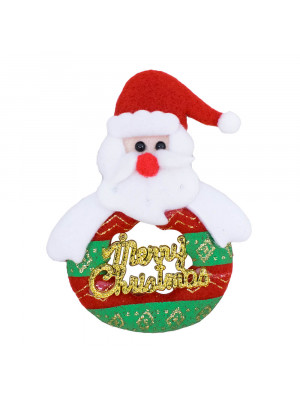 Ímã Geladeira Papai Noel Guirlanda Merry Christmas 12cm - Enfeite Natalino