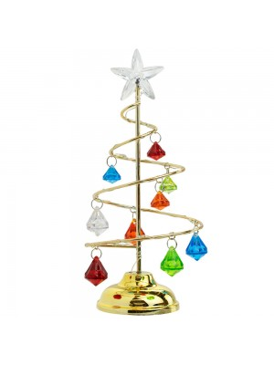 Luminária Árvore Natal Colorido 21cm - Enfeite Natalino